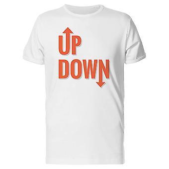 Up Down Arrows Tee Men's -Image by Shutterstock