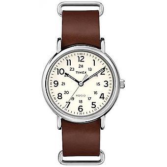Timex Originals Weekender Brown Leather Strap T2P495 Watch
