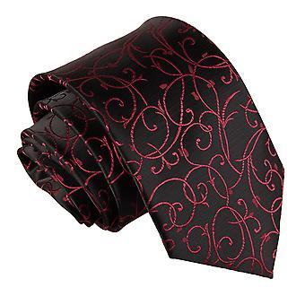 Black & Burgundy Swirl Classic Tie