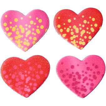 Royal Icing Decorations 8/Pkg-Shimmer Bubble Heart