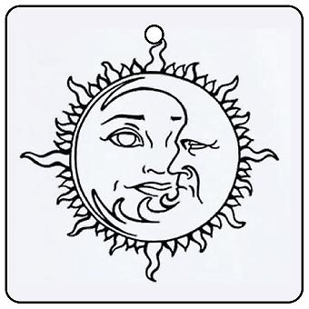 Sun and Moon Logo Car Air Freshener
