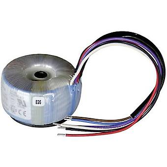 Toroidal core transformer 1 x 230 V 2 x 12 V AC 15 VA 0.63 A 825002 Sedlbauer