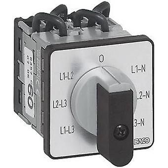 Voltmeter changeover switch 16 A 360 ° Grey, Bla