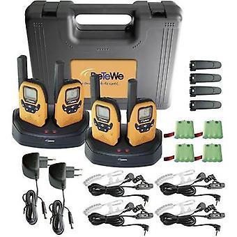 DeTeWe Outdoor 8000 Quad Case 208048 PMR handheld Transceiver 4-teiliges set
