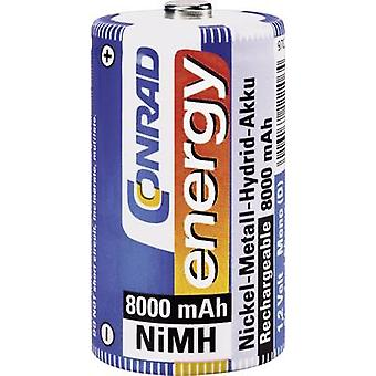 D battery (rechargeable) NiMH Conrad energy HR20 8000 mA