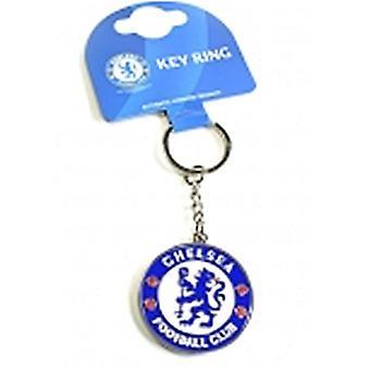Chelsea Fc Crest Large Metal / Enamel Keyring