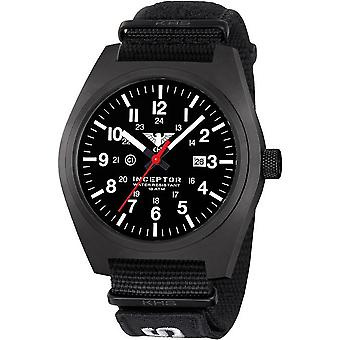KHS mens watch interceptor black steel KHS. INCBS. NXT7