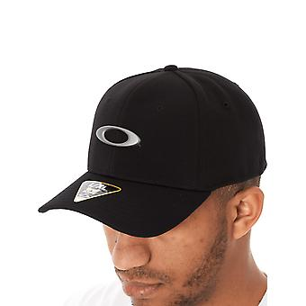 Oakley Jet Black Tincan Curved Peak Flexfit Cap