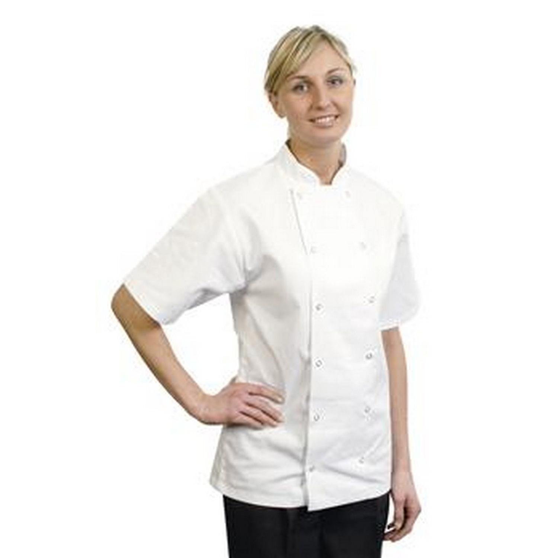 BonChef Adults Danny Short Sleeved Chef Jacket