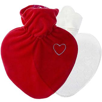 Hugo Frosch Hot Water Bottle In Love Heart Cover 1L