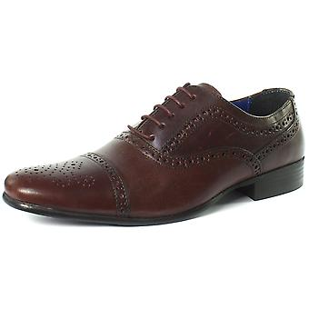 Red Tape Slade Bordo Mens Lace Up Brogue Shoes