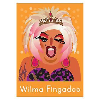 Houding kleding Wilma Fingadoo Life's een belemmering kaart