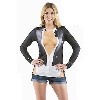 T-Shirt Decoltee Juxshirt Damenkostüm JGA Damenshirt Kostüm Damen Busenshirt Ausschnitt