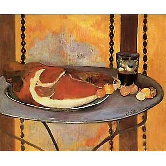 Still life with ham, Paul Gauguin, 50x58cm