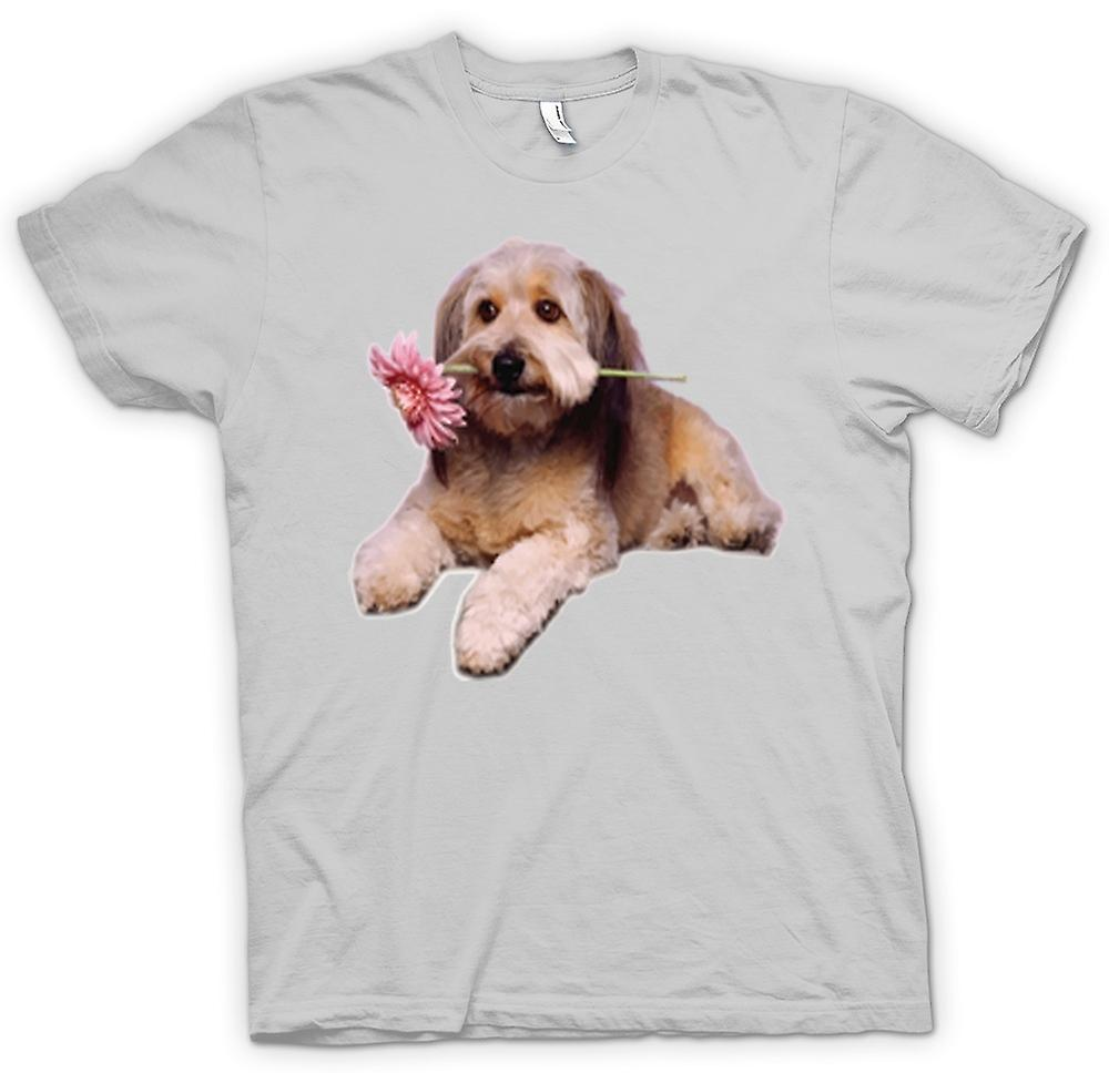 Mens T-shirt - Cute Puppy Dog Portrait