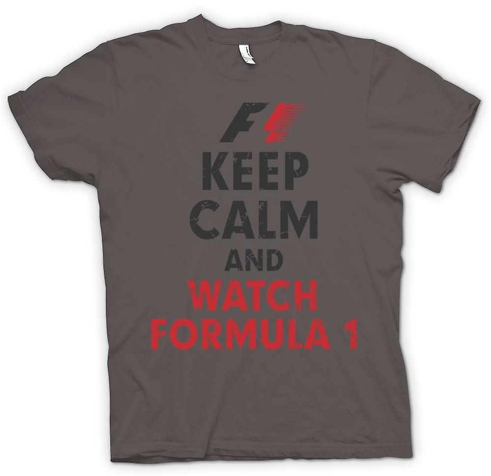 Womens T-shirt - F1 - Keep Calm And Watch Formula 1