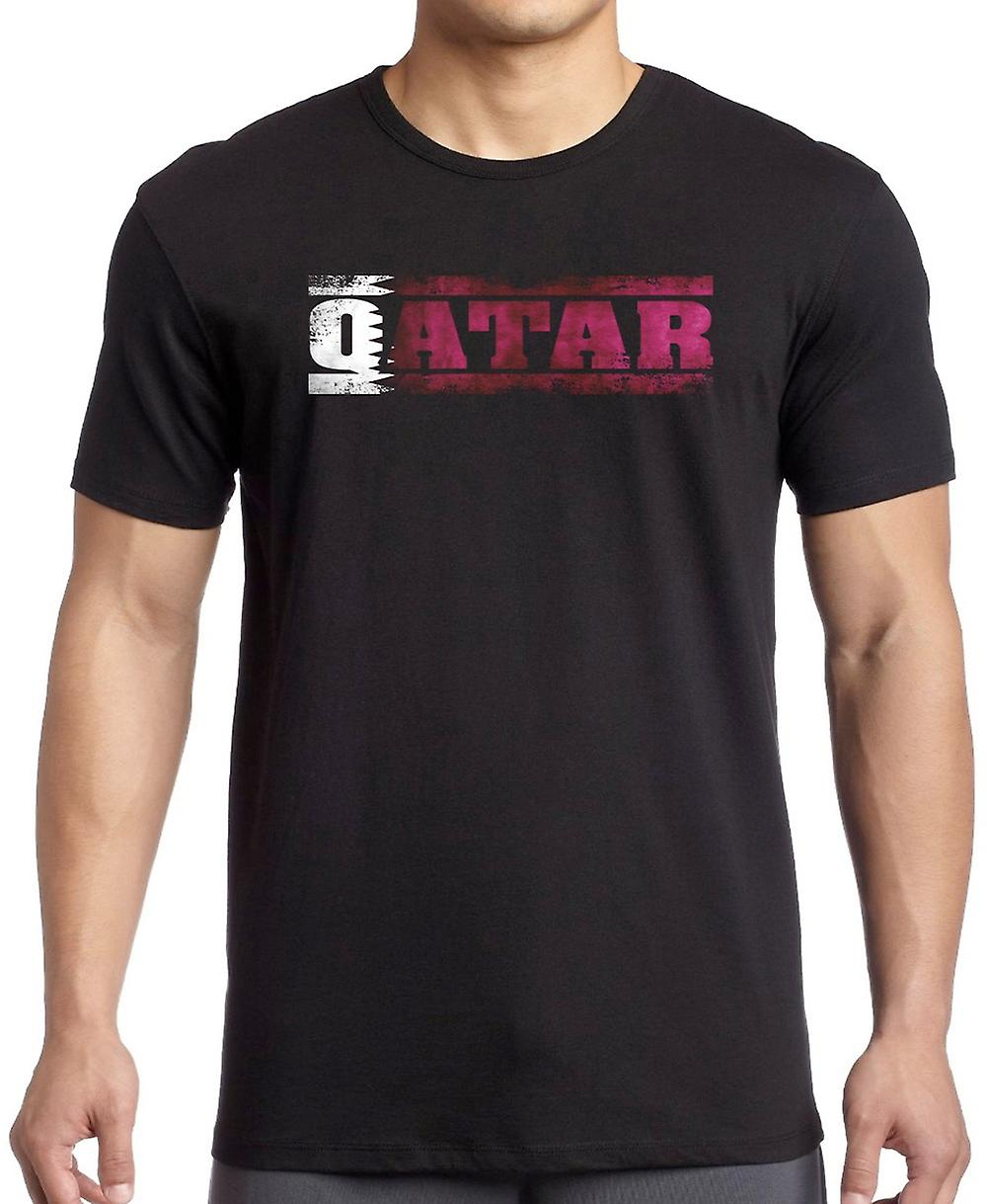 Qatars flagga - ord T Shirt