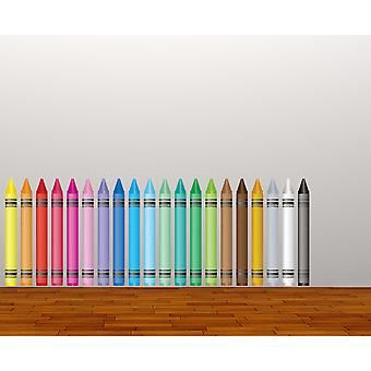 Full Colour Crayon Kids Wall Sticker