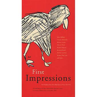 First Impressions - The Fledgling Years of the Black Sparrow Press 196