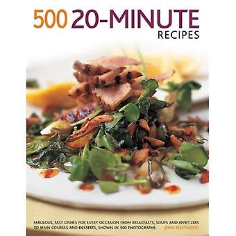 500 20-Minute recipes: Fabulous, fast dishes for every occasion from breakfasts, soups and appetizers to main...