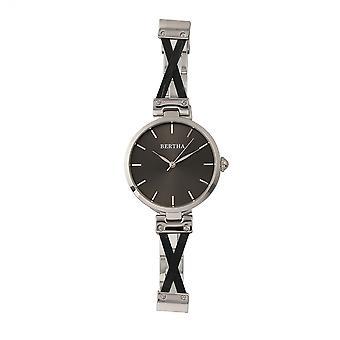Bertha Amanda kors armband Watch - Silver/svart