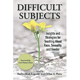 Difficult Subjects: Insights� and Strategies for Teaching about Race, Sexuality, and Gender