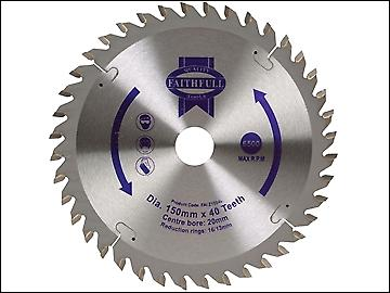 Faithfull Circular Saw Blade 150 x 20mm x 40T General Purpose