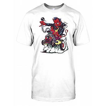 Devil Driving a Car - Horror Mens T Shirt