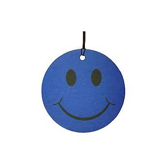 Ambientador de aire de coche de cara azul sonriente
