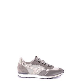 Mizuno Grey Leather Sneakers