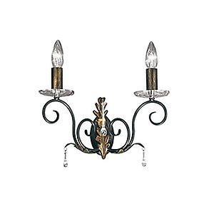 Elstead AML2 BRONZE Amarilli Traditional Double Arm Wall Light with Forged Scrolls