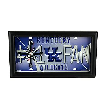 NCAA Kentucky Wildcats Number 1 Fan License Plate Mantel or Wall Clock