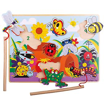 Bigjigs Toys Wooden Magnetic Fun Bugs Games with Rods