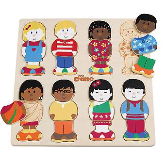 Tidlo Wooden Educational Little Friends Puzzle Learn Play Story