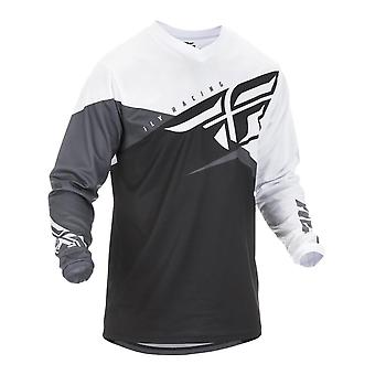 Fly Racing Black-White-Grey 2019 F-16 Kids MX Jersey