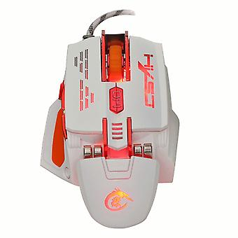 HXSJ X 200 7 boutons 4000 DPI LED USB Optical Gaming souris Blanche