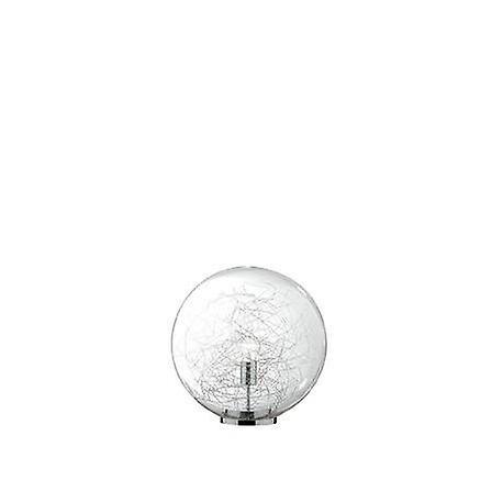 1 lumière petit Table   Floor Lamp Chrome
