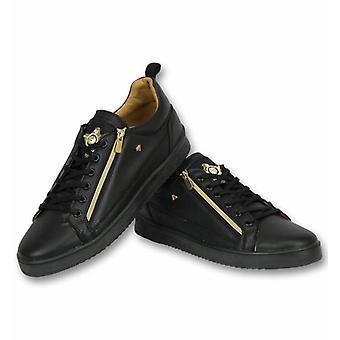 Heren Schoenen - Heren Sneaker Bee Black Gold - CMS97 - Zwart