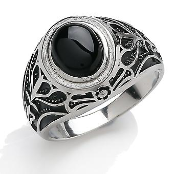 Jewelco London Men's Rhodium Plaqué Sterling Silver Black Oval Onyx Carved Cabochon Signet Ring Jewelco London Men's Rhodium Plaqué Sterling Silver Black Oval Onyx Carved Cabochon Signet Ring Jewelco London Men's Rhodium Plaqué Sterling Silver Black Oval Onyx Carved Cabochon Signet Ring Jewelco London Men'