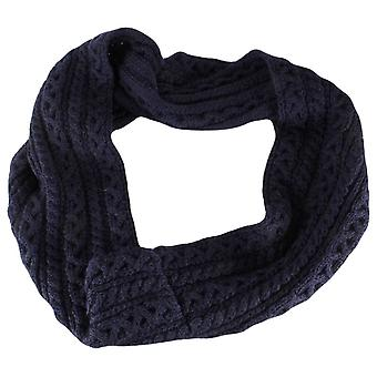 Highland 2000 Cable Knit Snood - Navy