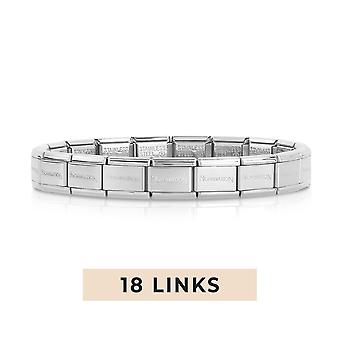 Nomination Classic 18 Link Composable Silver Steel Starter Bracelet 030000/SI/18