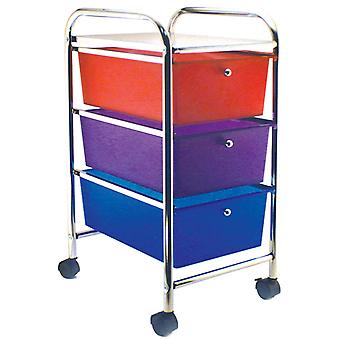 Cropper Hopper Home Center Rolling Cart 3 Drawer Multi Ch34081