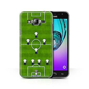 STUFF4 Case/Cover for Samsung Galaxy J3/4-1-2-1-2/White/Football Formation