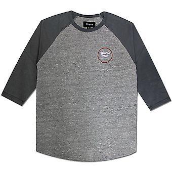 Brixton Wheeler T-Shirt Grey Blue