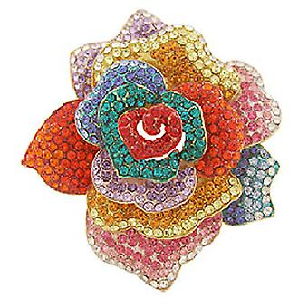 Butler  and  Wilson Layered Multi Rose Brooch