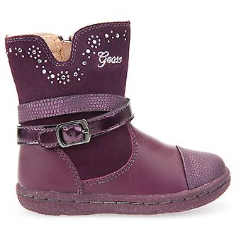 Geox Girls Flick B6434B Boots Prune Purple