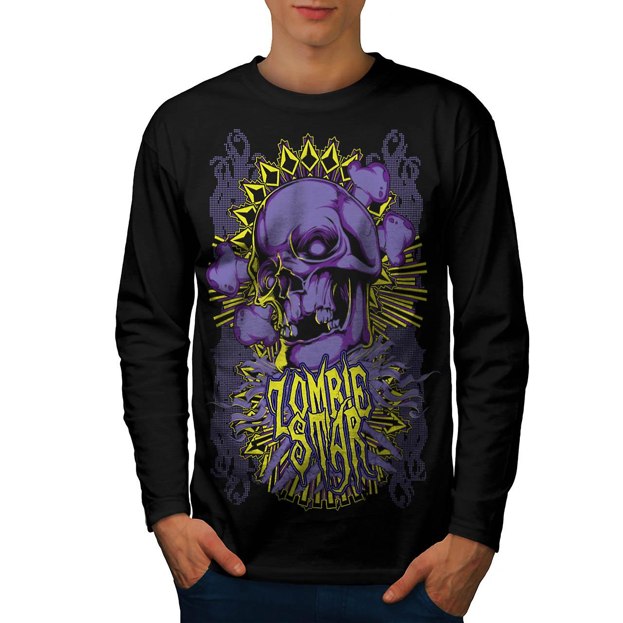 Star Horror Death Zombie Men Black Long Sleeve T-shirt | Wellcoda