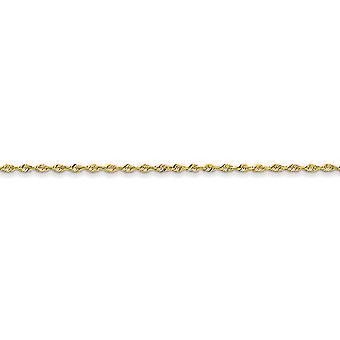 14k gult gull Solid lett hummer Claw nedleggelse 2.0mm gnisten-kutt ekstra lett tau kjeden armbånd - lengde: 7