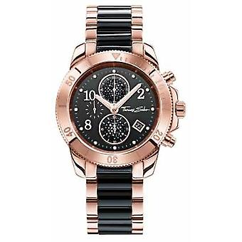 Thomas Sabo Womens Glam Chrono Black/Rose Gold WA0223-268-203-40 Watch