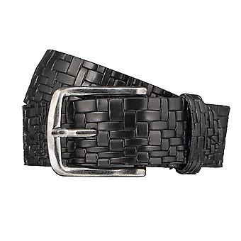 ALBERTO braided pressure belts men's belts leather belt black 3261